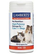 Lamberts Pet Nutrition High Potency Omega 3's for Dogs & Cats 120 capsules