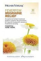 Feverfew Migraine Relief 30 Capsules Higher Nature