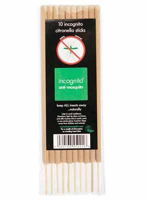Incognito Anti Mosquito Citronella Incense Sticks 10