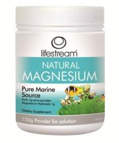 Lifestream Natural Magnesium Pure Marine Source 150mg (incl 10% discount)