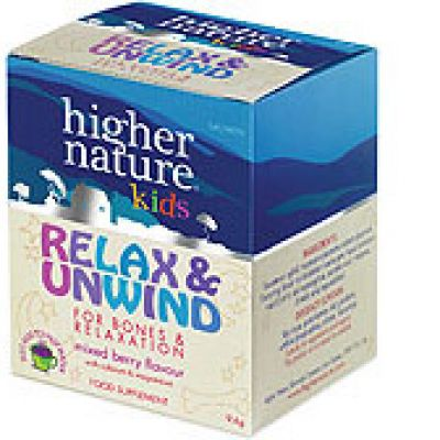 Relax & Unwind mixed berry flavour powder for kids with calcium & magnesium 10 sachets