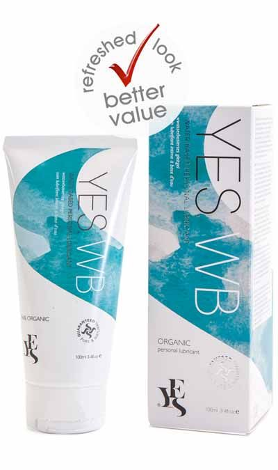 Yes Water Based Personal lubricant 100ml Condom compatible NEW PACKAGING