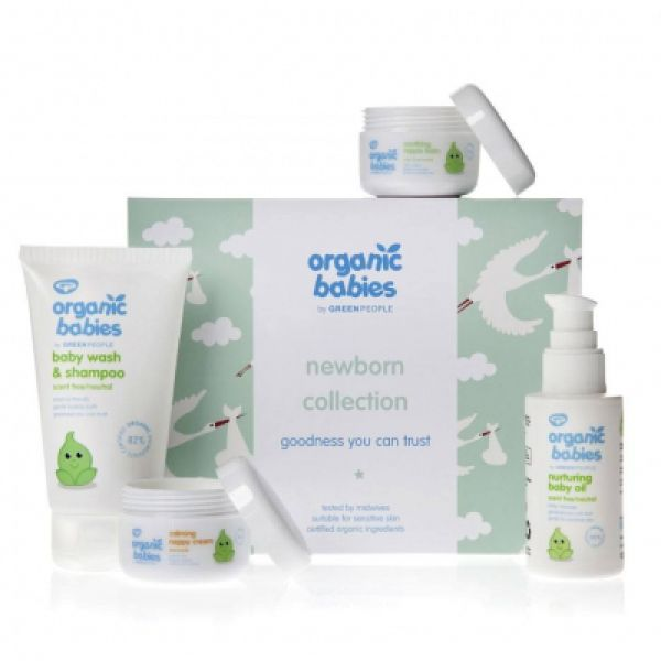 Helios Homeopathy Organic Babies By Green People Newborn Collection Gift