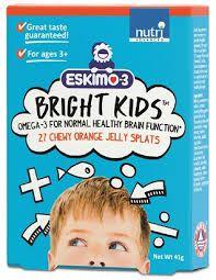 Nutri Eskimo-3 Bright Kids 27 chewy orange jelly splats Omega 3