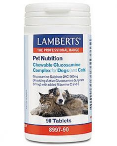 Lamberts Pet Nutrition Chewable Glucosamine Complex for Cats & Dogs 90 tablets