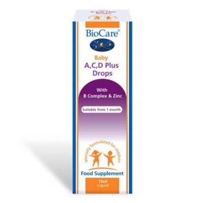 Biocare A,C,D Plus Drops with B comp & Zinc 15ml from 1 month