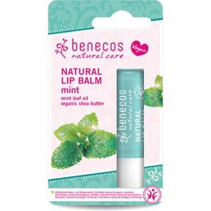 Benecos Natural Lipbalm with Mint Leaf Oil & Shea Butter 4.8g Vegan
