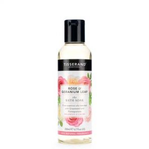 Tisserand Rose & Geranium Leaf Bath Soak 200ml