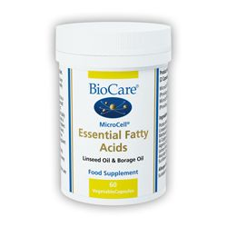Microcell Essential Fatty Acids, 60  Veg Caps, Flax & Borage Oil (Biocare)