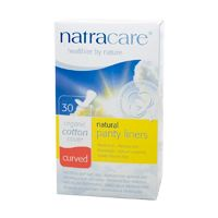 Natracare Curved Panty Liners Organic Cotton 30