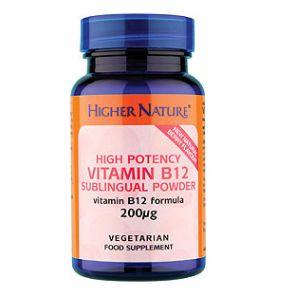 Sublingual Vitamin B12 Powder 30G Higher Nature