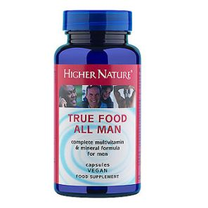 True Food All Man Multivitamin 90 Capsules Higher Nature