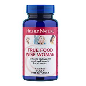 True Food Wise Woman Multivitamin 90 Capsules Higher Nature