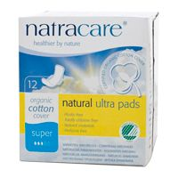 Natracare Natural Ultra Pads Cotton Super With Wings 12